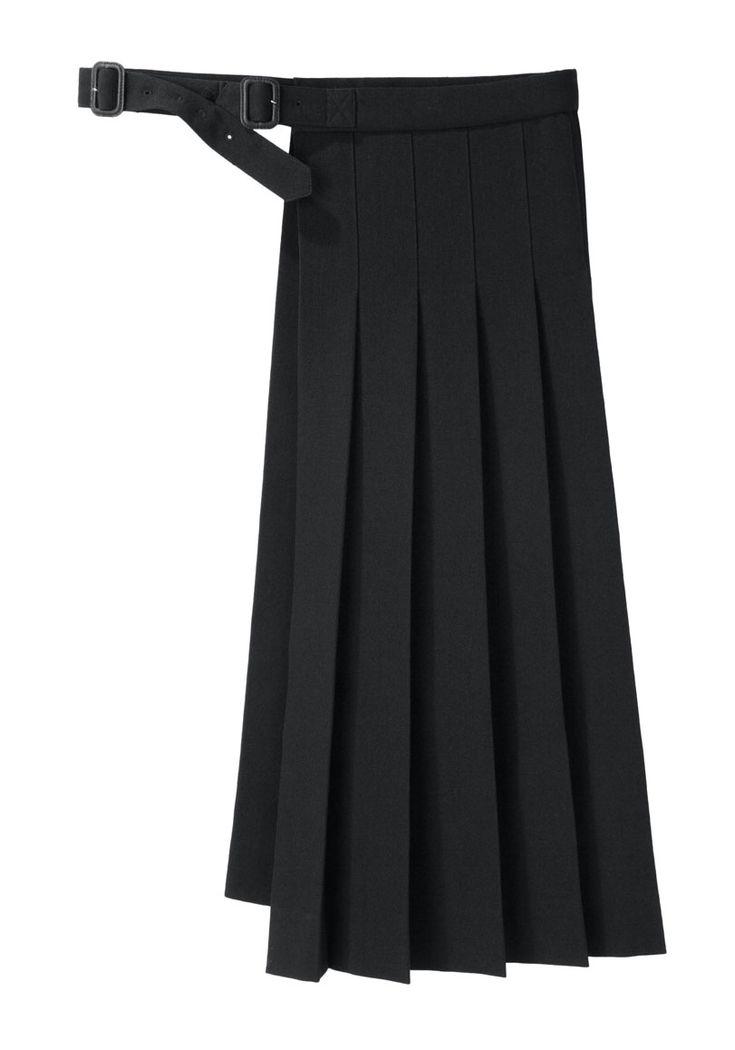 Yohji Yamamoto Pleated Wrap Skirt