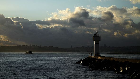 Lighthouse at Kadikoy with Wonderful Istanbul Landscape