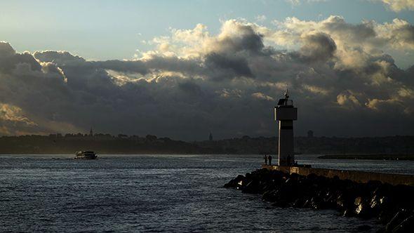 Lighthouse at Kadikoy with Wonderful Istanbul Landscape