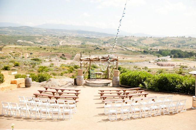 amazing farmhouse wedding venue on a hilltop overlooking California