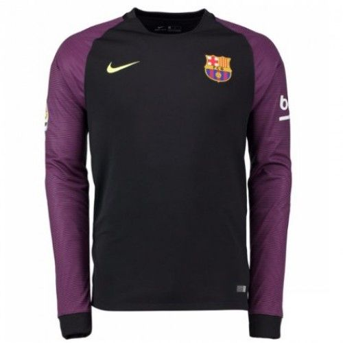 Barcelona 16-17 Maalivahti Kotipaita Pitkät HiHattu  #Jalkapallo   #Pelipaida  #Halvalla