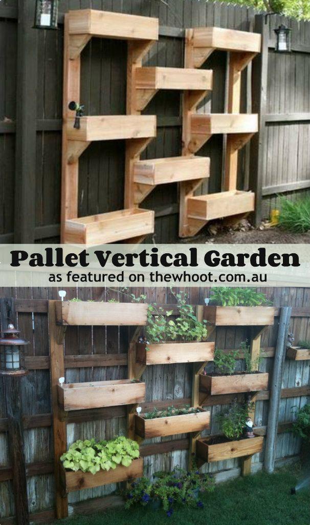 Jardin Vertical con paletas