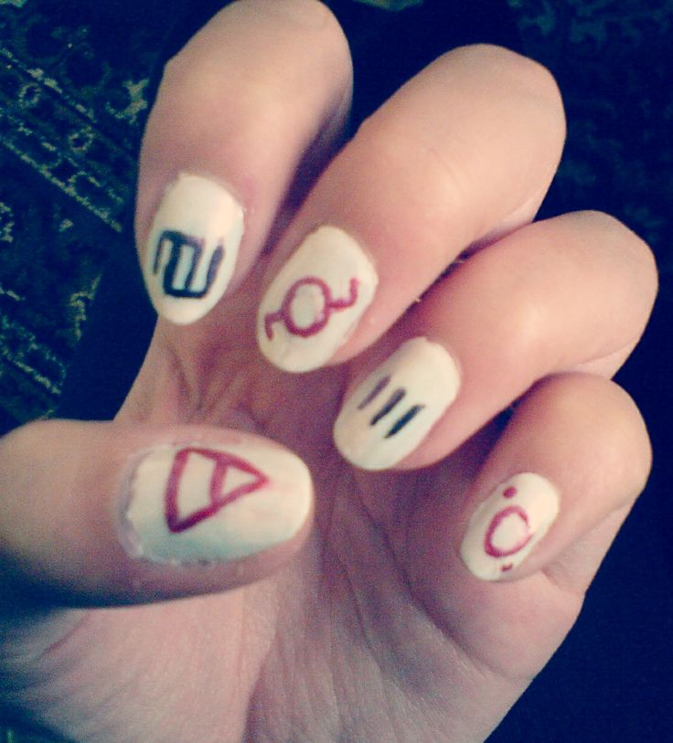 30 Seconds To Mars nails ;)