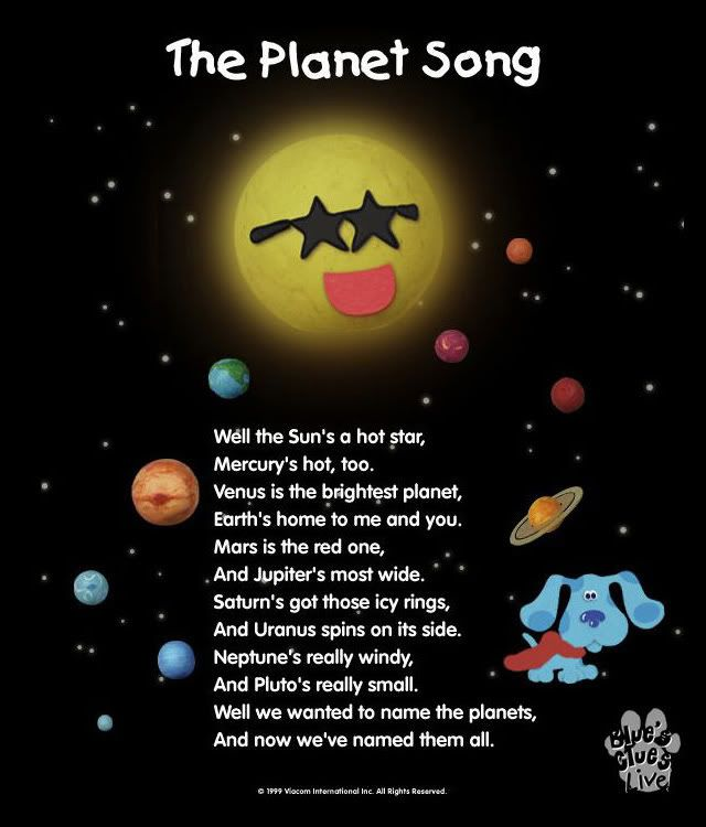 solar system song for preschoolers - photo #4
