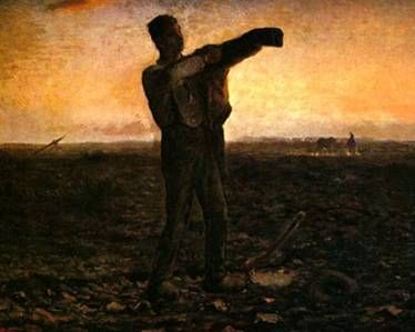 하루의 끝, 1865~7  밀레  캔버스에 유채, 59.5 x 73 cm,  개인 소장    노동의 아름다움을 개인의 얼굴이 아니라 전체적인 모습을 통해서 보여주고 있는 작품이다.  바르비종파의 대표적인 화가로 여러 노동자들의 모습을 그려왔지만 노년기에도 계속해서 그려갔다.  이 작품은 만종보다 유명한 작품은 아니지만 작가의 계속해서 보여주고 싶은 노동의 숭고함과 열정이 잘 표현된 것 같다