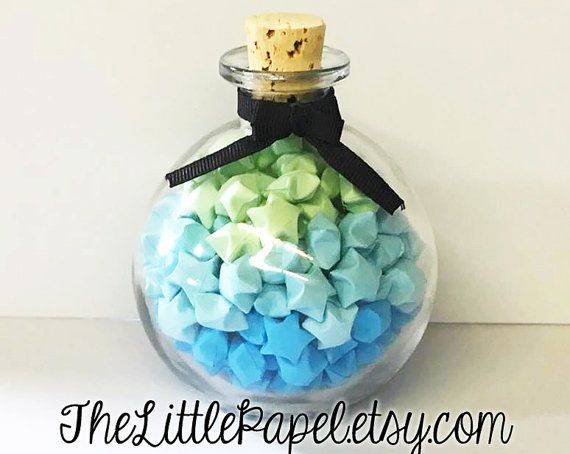 Blue Variant Origami Lucky Star Jar