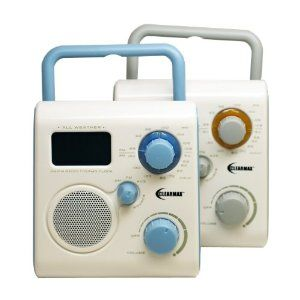 ClearMax All-Weather AM/FM Portable Shower Radio with Alarm Clock – connects to iPod, iPhone or MP3 – Blue by Clear Max  http://www.60inchledtv.info/tvs-audio-video/radios/shower-radios/clearmax-allweather-amfm-portable-shower-radio-with-alarm-clock-connects-to-ipod-iphone-or-mp3-blue-com/