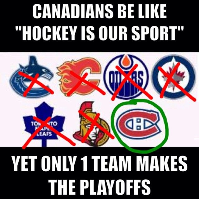 Easy now.  The contemporary game of ice hockey was first played on March 3, 1875 in Montreal.  Without Canada hockey would not be the game we love today, not to mention how many of the players on US teams are Canadian.