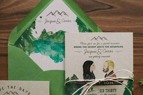 Rustic Woodland Wedding Invitation Custom Water by WideEyesPaperCo, $2 ...