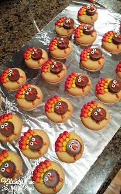 Kitchen Fun With My 3 Sons: Easy Reese's Peanut Butter Cup Turkey Cookies