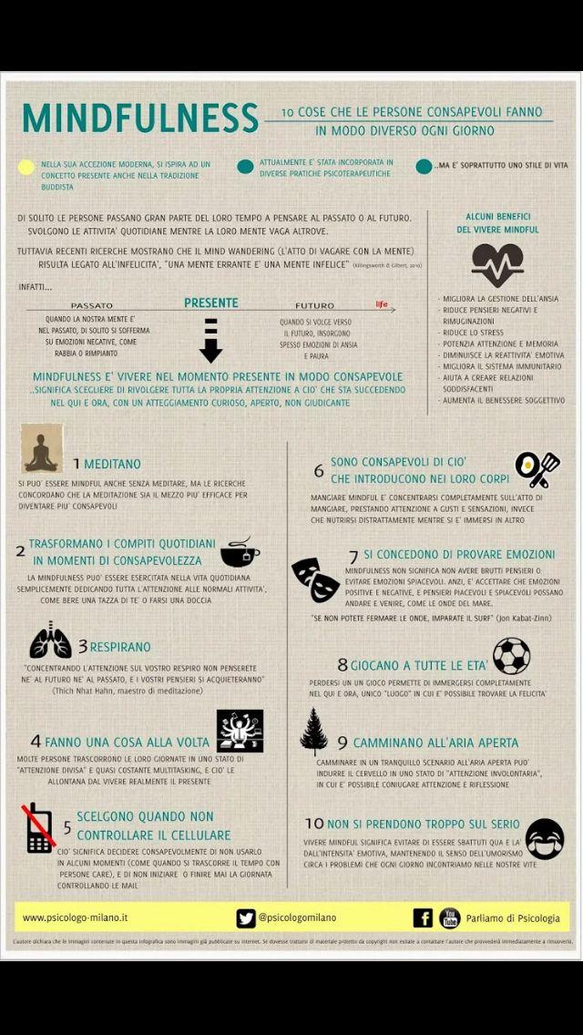 #mindfulness #infografica