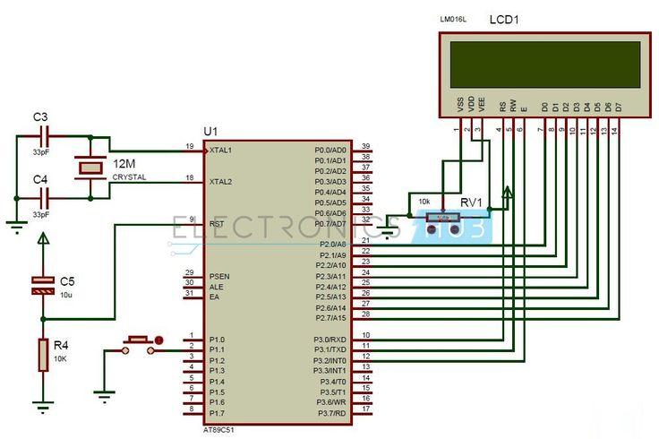 Random Number Generator Circuit Diagram using 8051 Microcontroller