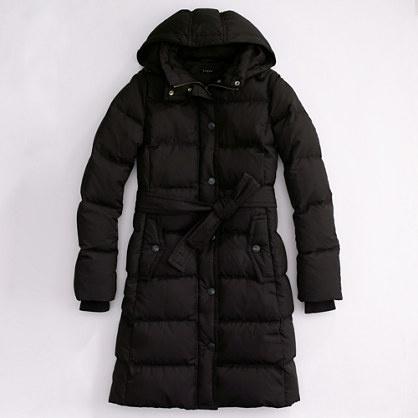 88f14672d Long belted puffer jacket - Women's Outerwear | J.Crew | Fashion ...