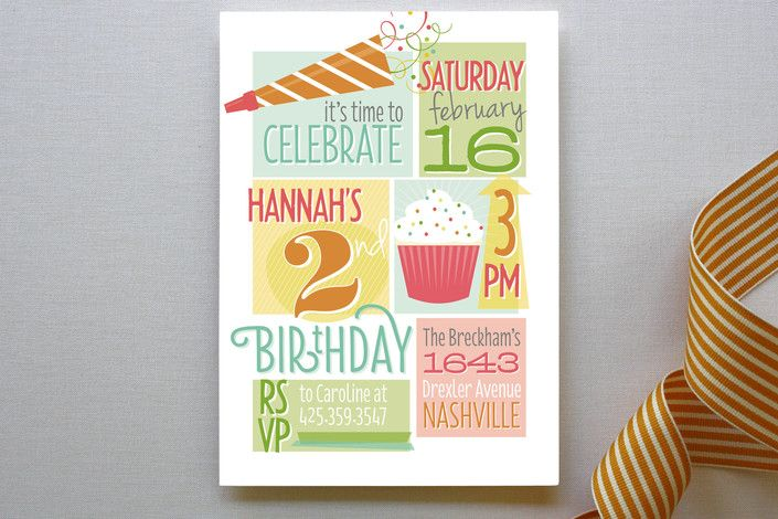 Whole Lotta Fun Children's Birthday Party Invitations by Jessica Williams at minted.com