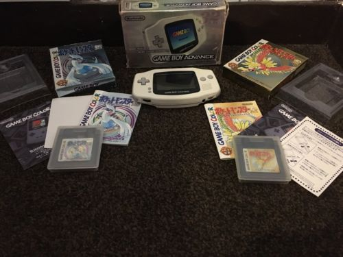 Game boy advance white #console with #pokemon gold and silver #boxed and complete,  View more on the LINK: http://www.zeppy.io/product/gb/2/252461601152/