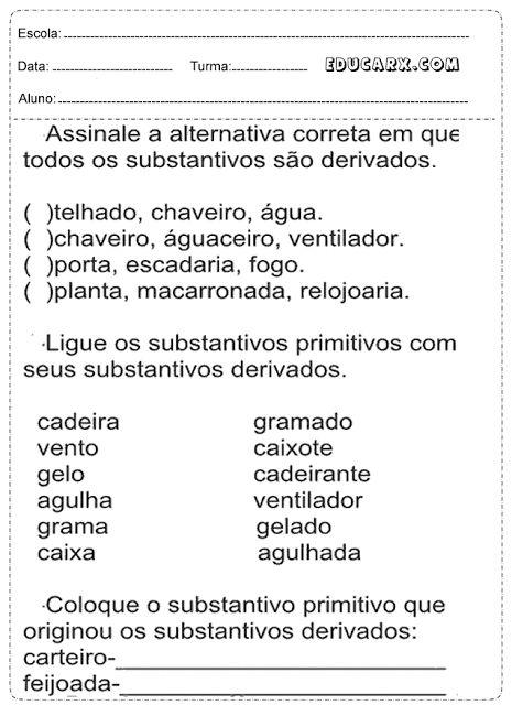 Assinale a alternativa correta em que todos os substantivos são derivados