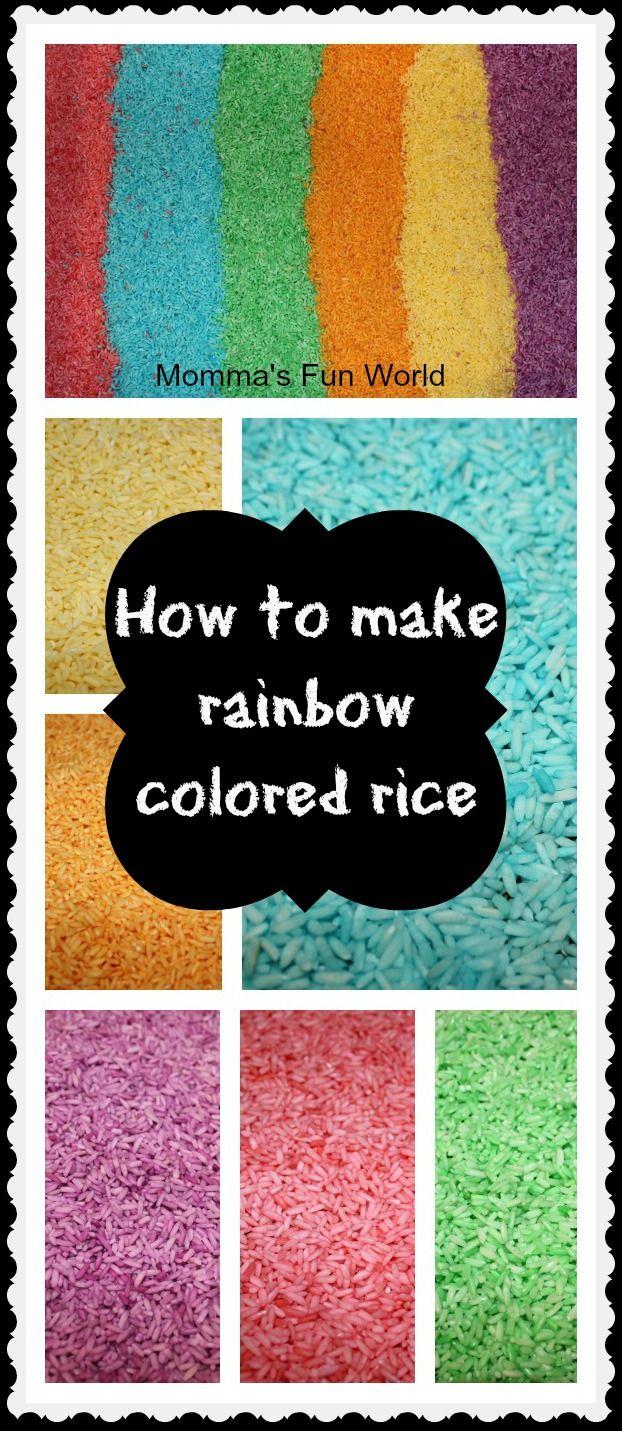 cómo preparar arroz coloreado con Kool-Aid