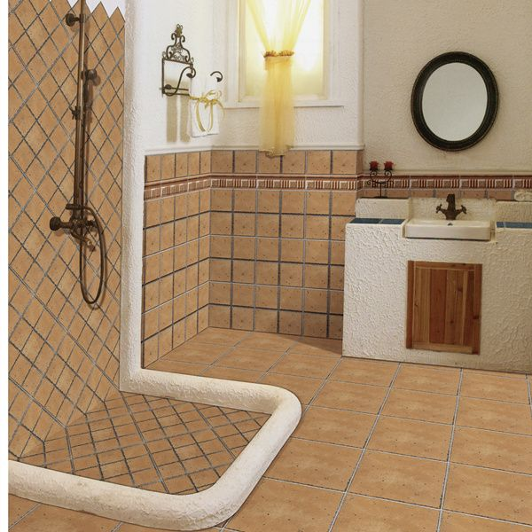 Non slip ceramic floor tiles for bathroom gurus floor for Porcelain tile bathroom floor slippery