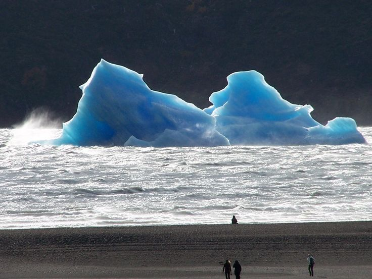Icebergs from Grey Glacier - Puerto Natales, Chile