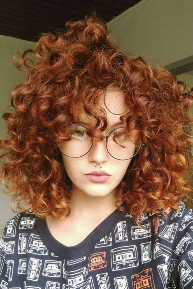 Cheveux Boucl Roux Courts Fris Coiffure