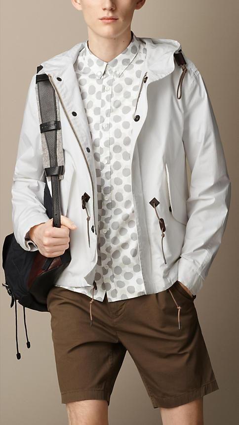Burberry Brit Coated Cotton Poplin Hooded Jacket