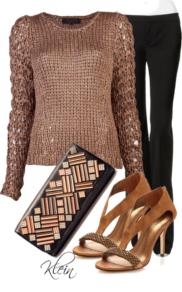 """""""Bronze & Black"""" by stacy-klein on Polyvore"""