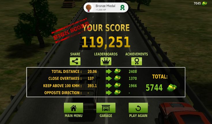 My High Score In Traffic Racer Game Achievement Scores Games
