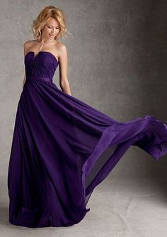 Size 12 Eggplant Angelina Faccenda 20421 Notched Long Bridesmaid Dress