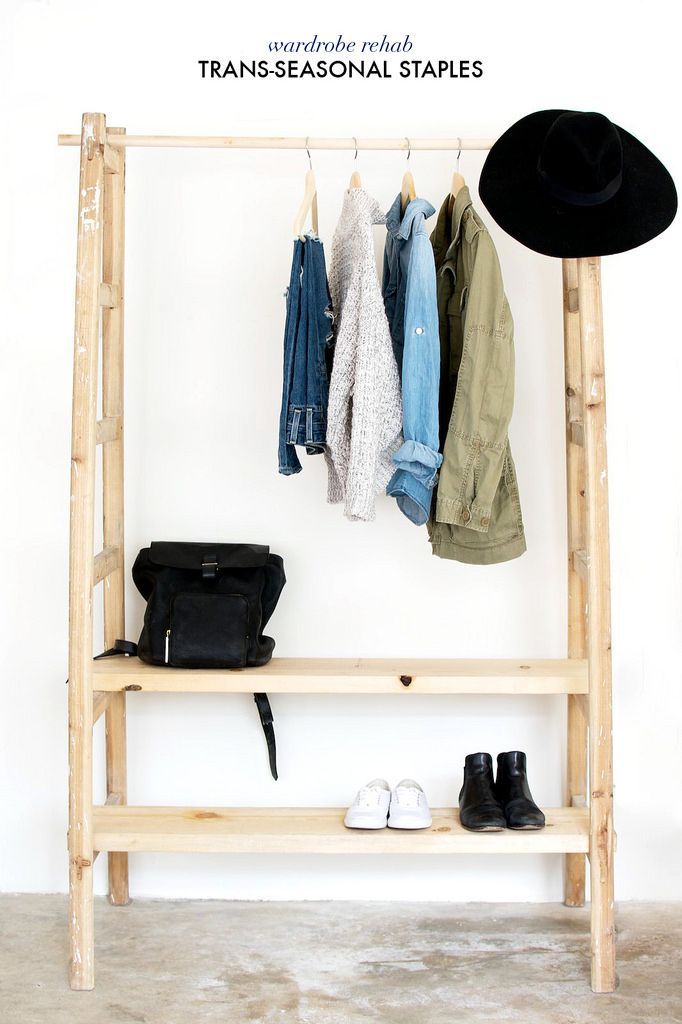 How to build a clothes rack with wood woodworking