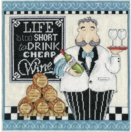 Wine - Cross Stitch Patterns & Kits - 123Stitch.com                                                                                                                                                      More