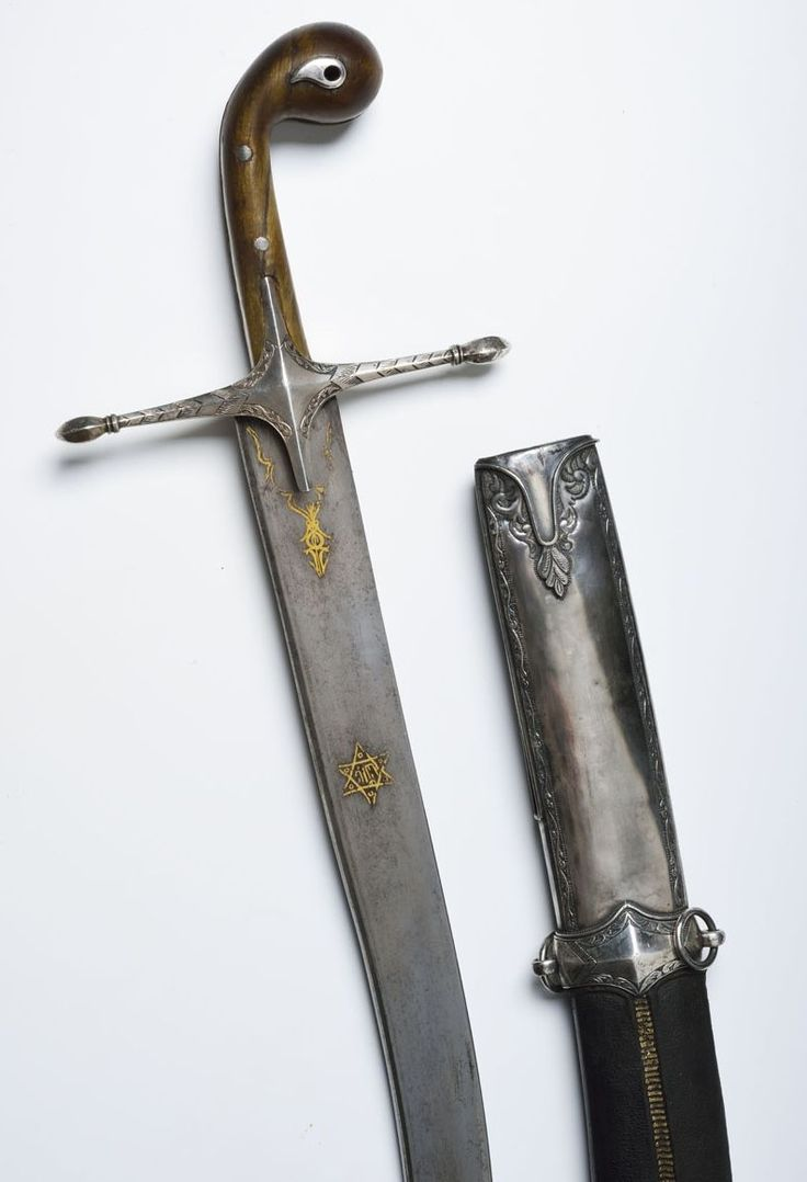 Ottoman Kilij Sword Dated: 18th century Place of Origin: Turkey Medium: steel, gold, silver, leather, wood Measurements: overall length 89; blade length 69 cm
