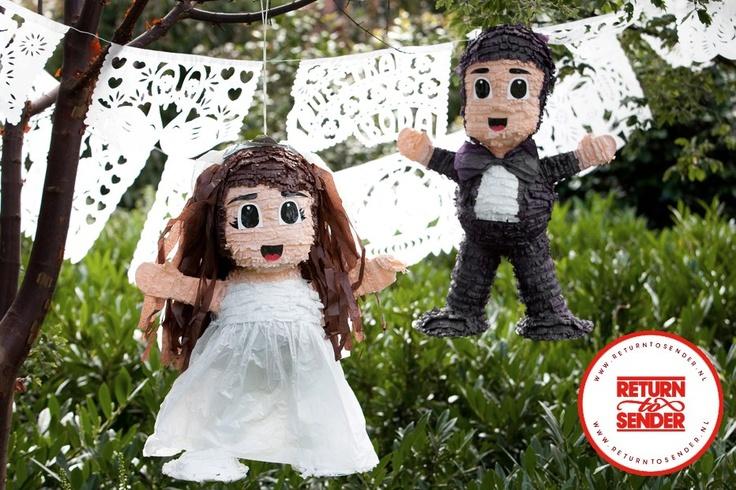 Wedding pinatas by return to sender
