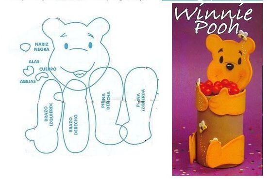 ... winnie the pooh para hacerlo en foami moldes de winnie the pooh en