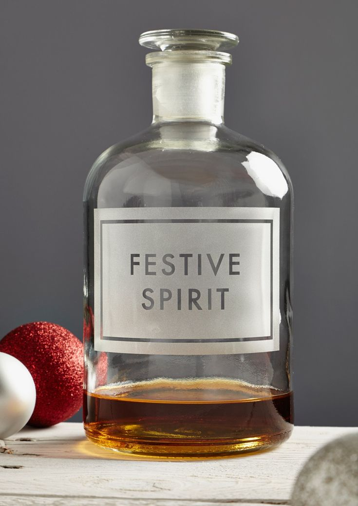 Xmas 'Festive Spirit' Etched Bottle - £36 - £56