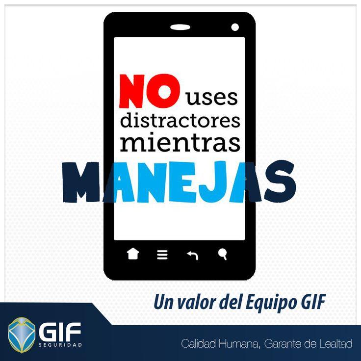 Recuerda al manejar no utilices celular.