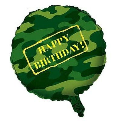 Camo Happy Birthday Foil Balloon | Army Party Decorations