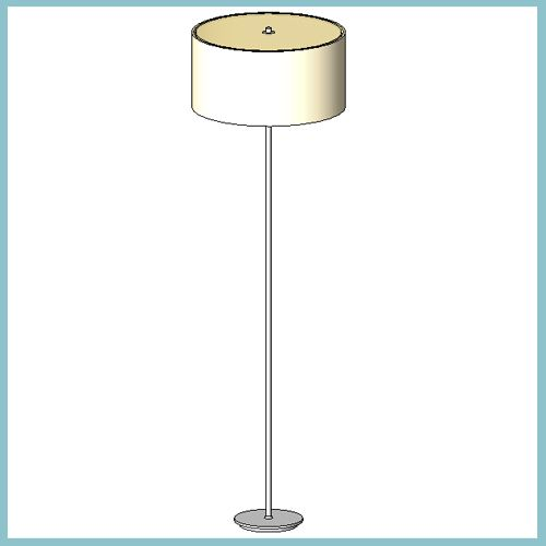 Zaragoza Cream Floor Lamp Autodesk Revit Architecture