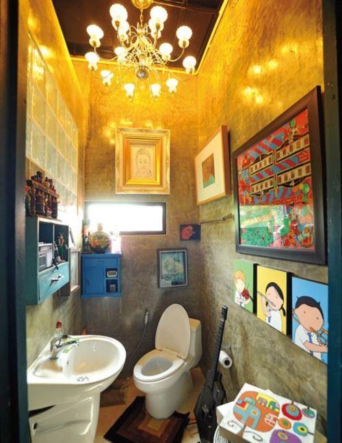 Best 20 funky bathroom ideas on pinterest for Quirky bathroom ideas