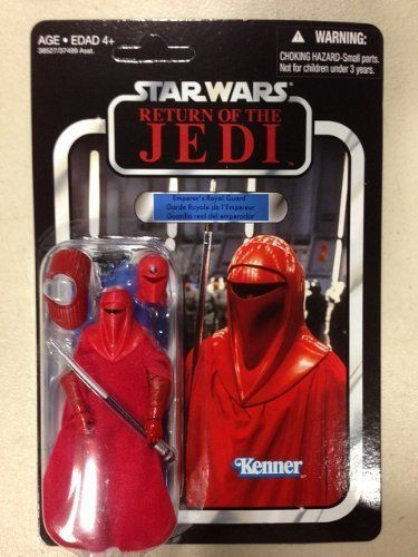 Star Wars Vintage Collection 2012 Wave 7 VC105 Royal Guard Figure Figure. Limited distribution Vintage Collection Star Wars action figures from the entire Star Wars saga!. Each Vintage Action Figure comes with awesome accessories. The classic Kenner-style Star Wars packaging you remember has been applied to the newest films and even The Clone WarsTV show!. Trilingual Packaging.