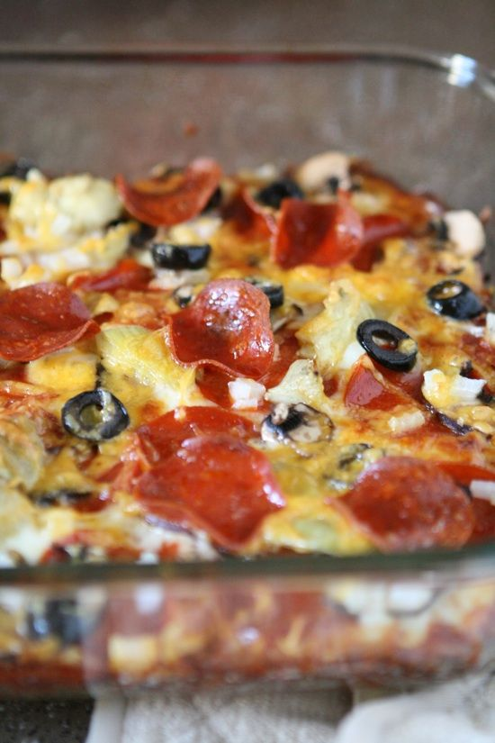 Zucchini Pizza Casserole... May try this with extra garden zuchinni!