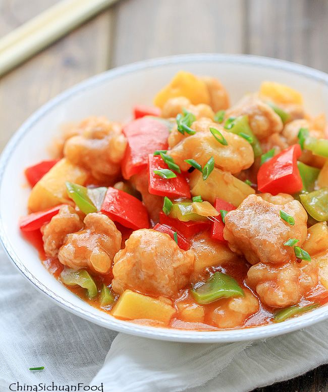 Sweet and Sour Pork with Pineapple