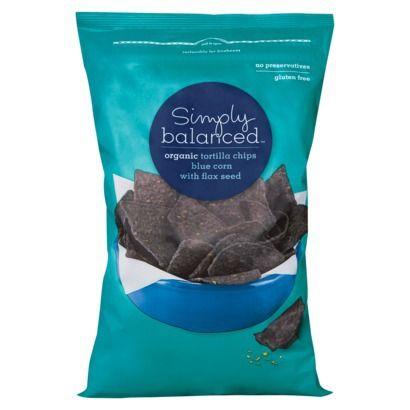 Simply Balanced Organic Blue Corn with Flax Seed Tortilla Chips 12 oz
