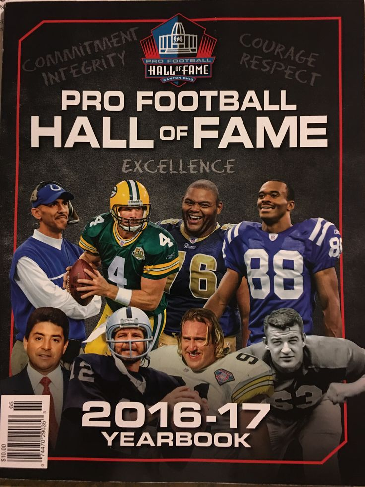 Pro Football Hall of Fame 2016-17 Yearbook; Brett Favre, Tony Dungy, Kevin Greene, Orlando Pace, Marvin Harrison