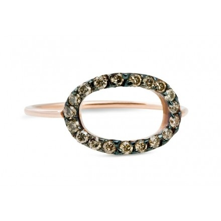 JADA Zea ring oval with cognac diamonds