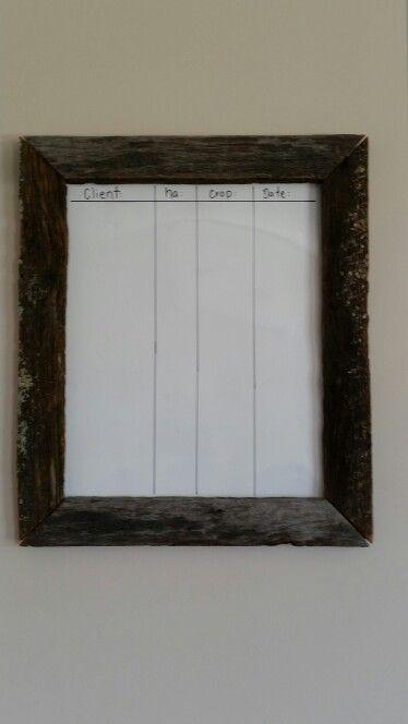Rustic white board