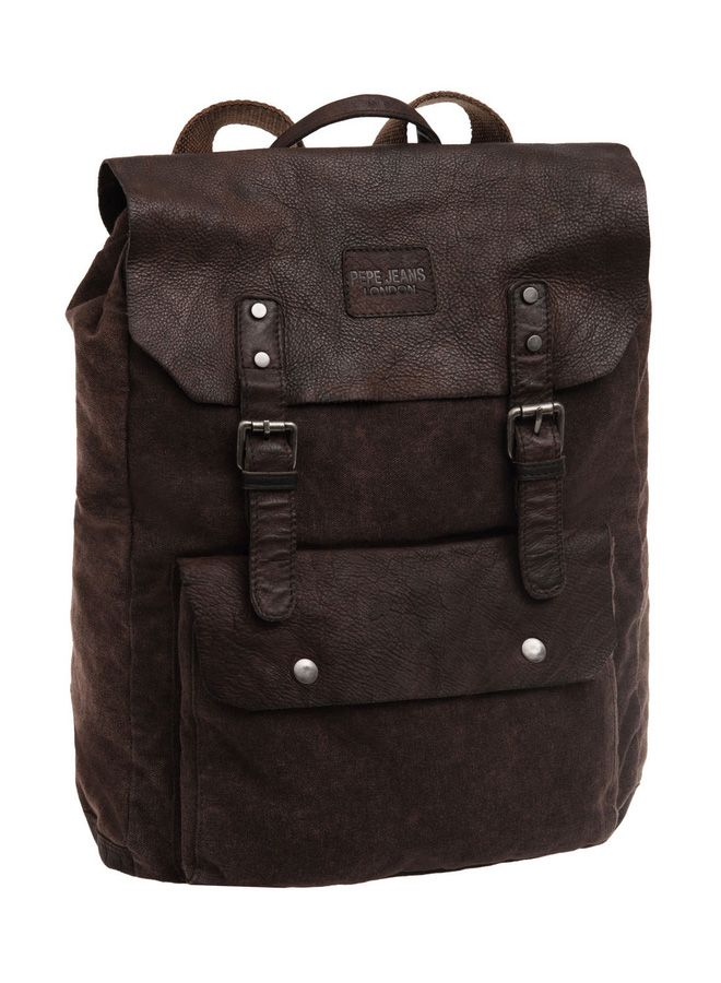 Mochila Pepe Jeans Canvas Leather #PepeJeans #JoummaBags #backpack #2016 facebook.com/flandobc