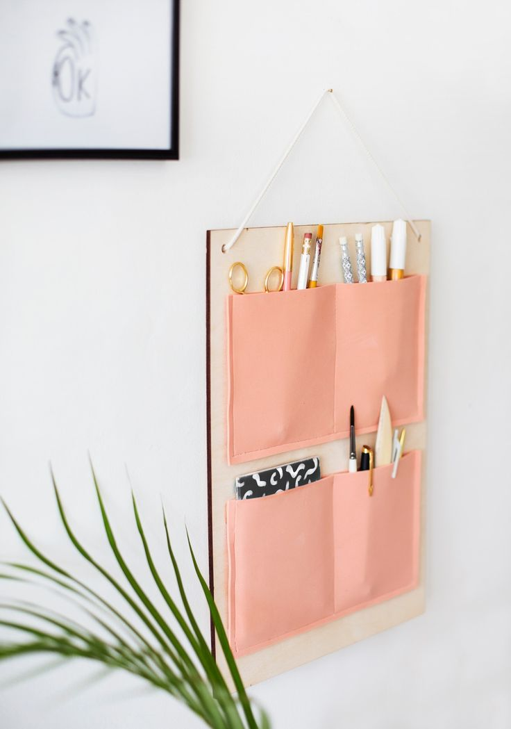 DIY hanging organiser for your study or anywhere in the house.