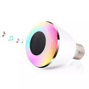 Générique Ampoule LED Bluetooth avec haut-parleur peut être obscurci multicolore Changement de couleur Smart LED Lights-Smartphone…