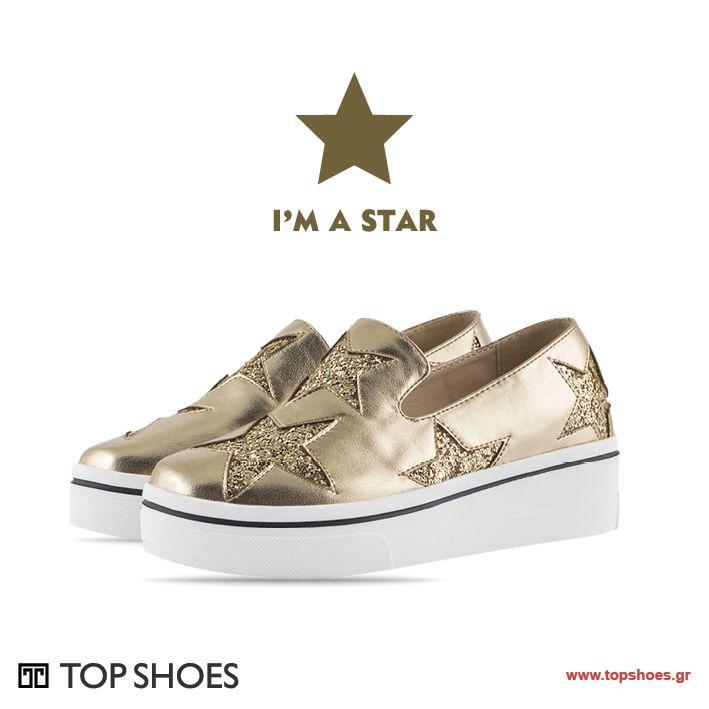 Νέα φανταστικά sneakers SWEET D για εκθαμβωτικές εμφανίσεις! Σε τρία εντυπωσιακά χρώματα και με διακοσμητικά αστέρια γεμάτα glitter! Τα πιο λαμπερά αστέρια της μόδας... στα πόδια σου!