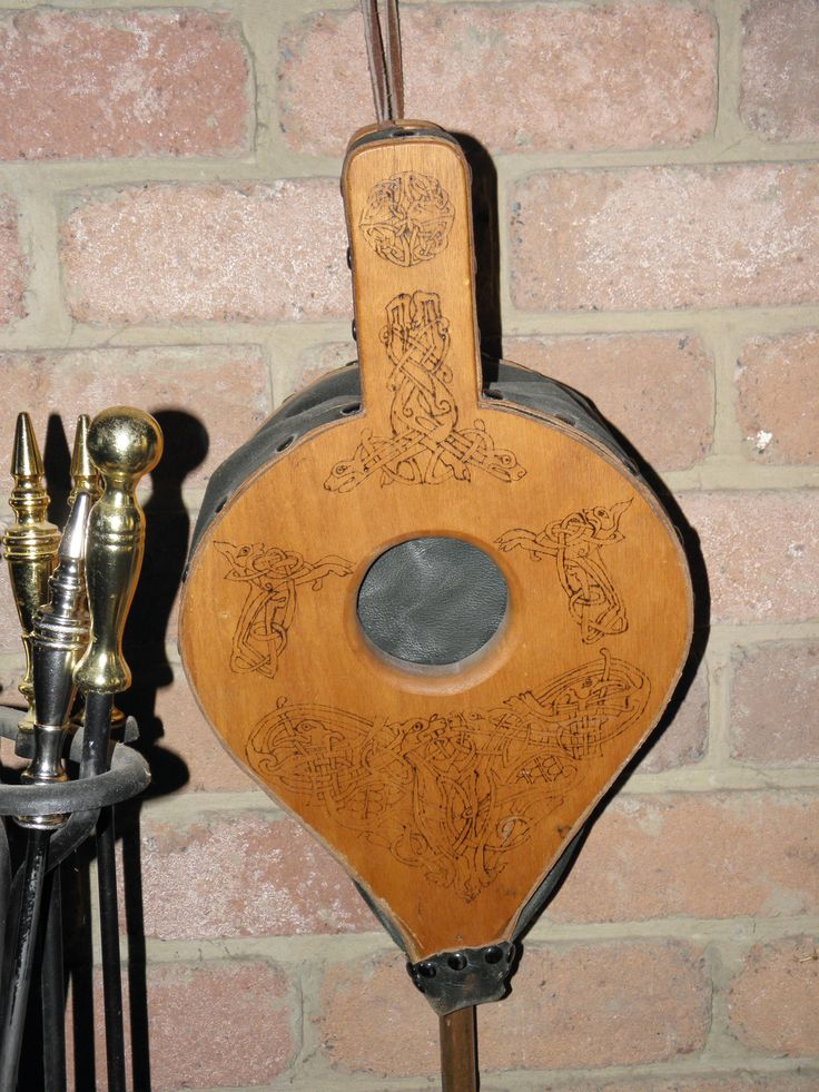 Dad's home made bellows Celtic pride